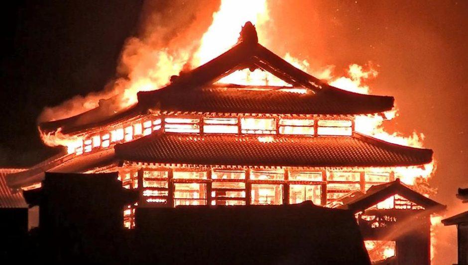 動画】首里城火災現場を間近で撮影したの誰がいつ?内部に侵入者?